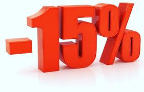 15% Έκπτωση