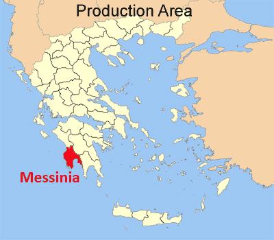 Karte von Messinia