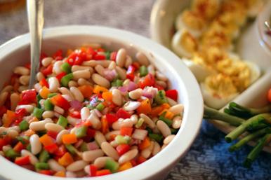 Salad with medium size Beans