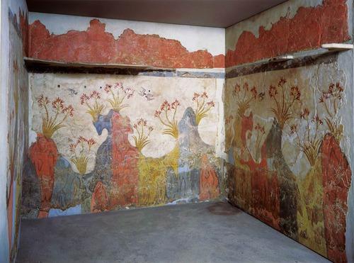 Η τοιχογραφία της Άνοιξης, Ακρωτήρι - Θήρα