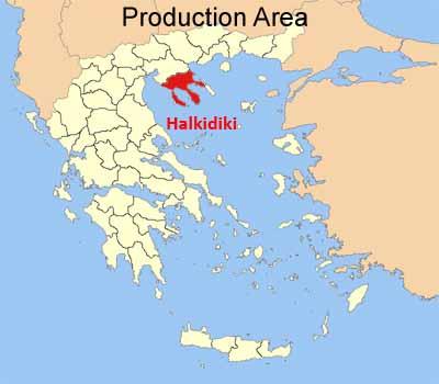 Karte von Halkidiki