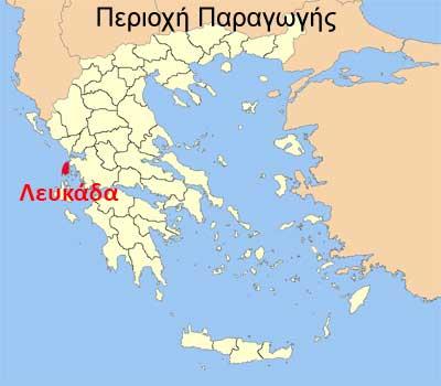 Χάρτης Λευκάδας
