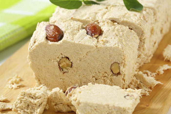 Halva with almonds
