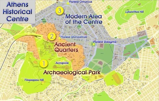 Athener Stadtplan