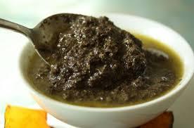 Olive paste in olive oil