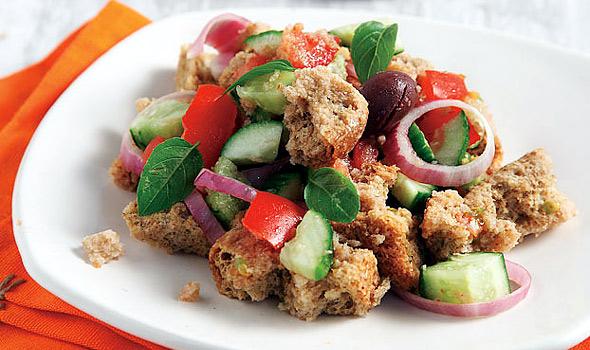 Cretan Barley Rusks in the salad