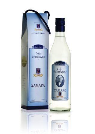 Ούζο Σαμαρά μπλε