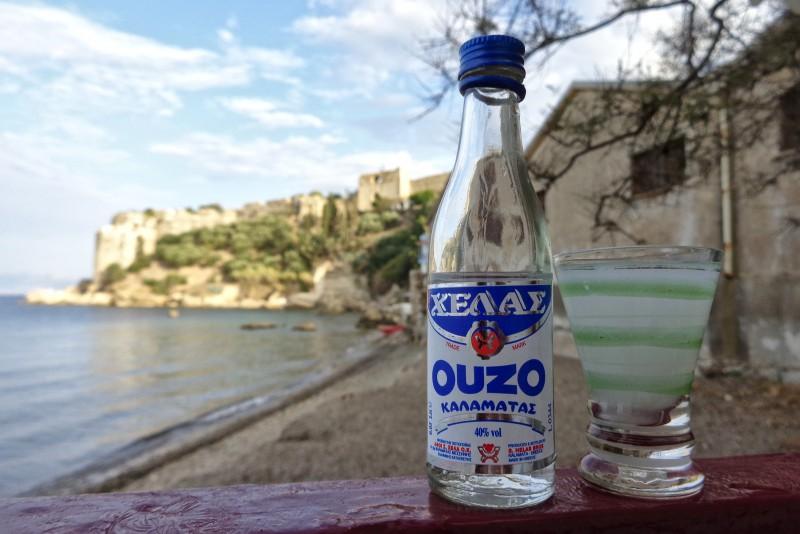 Ouzo from Kalamata Helas (ΧΕΛΑΣ)